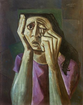 Cândido Portinari. Mulher chorando (1947)