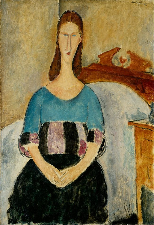 703px-Amedeo_Modigliani_-_Portrait_of_Jeanne_Hebuterne,_Seated,_1918_-_Google_Art_Project