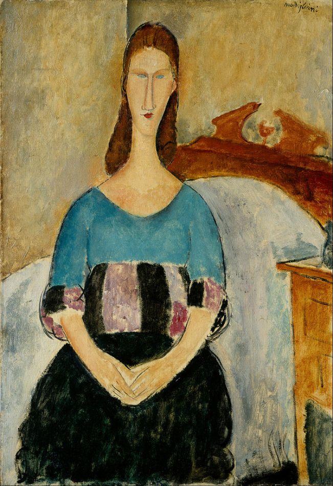 703px-Amedeo_Modigliani_-_Portrait_of_Jeanne_Hebuterne,_Seated,_1918_-_Google_Art_Project