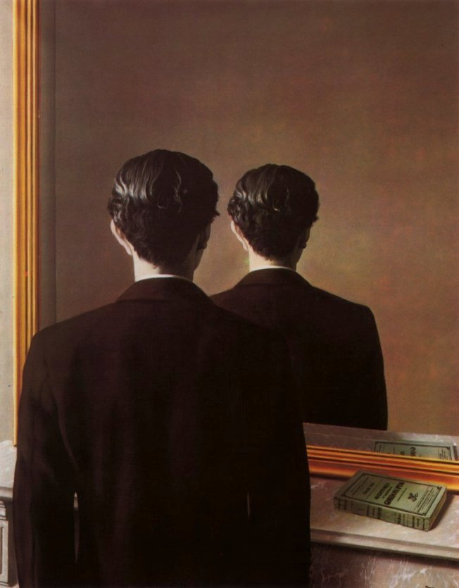René Magritte's Not to Be Reproduced (La Reproduction Interdite), (1937)