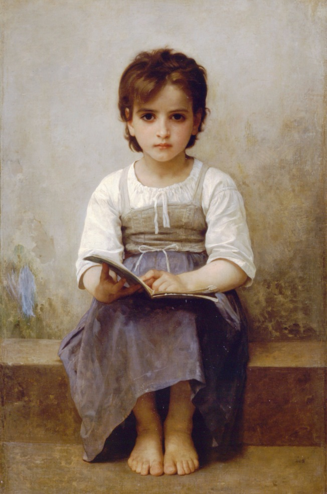 William-Adolphe Bouguereau, Una lección difícil (1884)