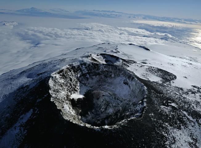Cráter del Monte Erebus, Antártida