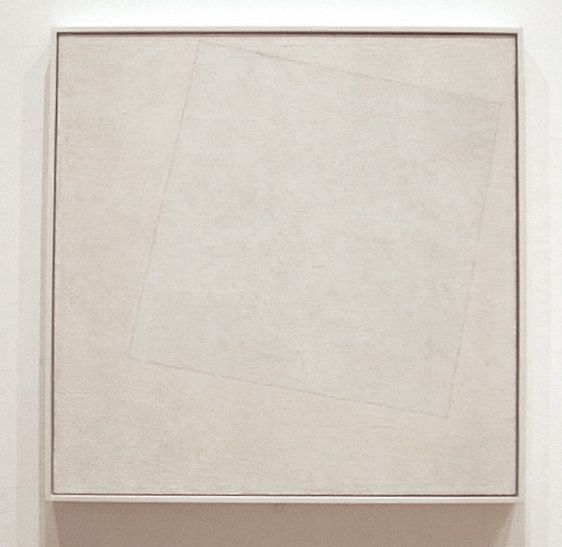 Malevich, Kazimir- Cuadrado blanco sobre fondo blanco (1918)