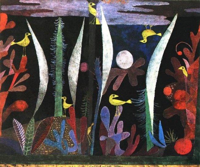 Paul Klee- Paysage aux oiseaux jaunes (1923)