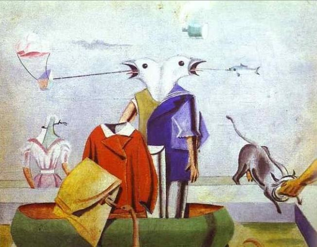 Max Ernst - Birds. also Birds, Fish Snake and Scarecrow (1921)