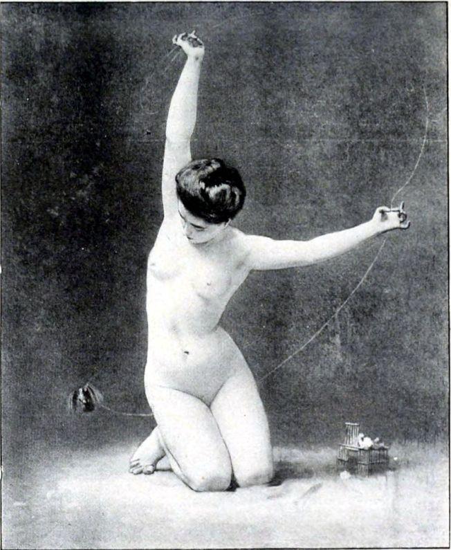 Philippe Zacharie-La femme à l'oiseau (1901)