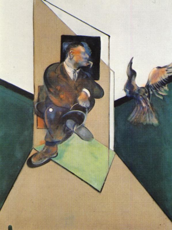 Francis Bacon- Study for a Portrait with Bird in Flight, 1980