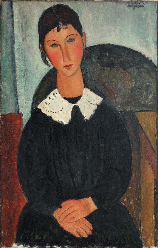 Amedeo-Modigliani-Elvire-con-colletto-bianco-1917