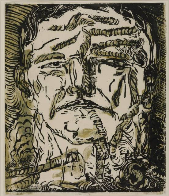 Large Head 1966 by Georg Baselitz born 1938