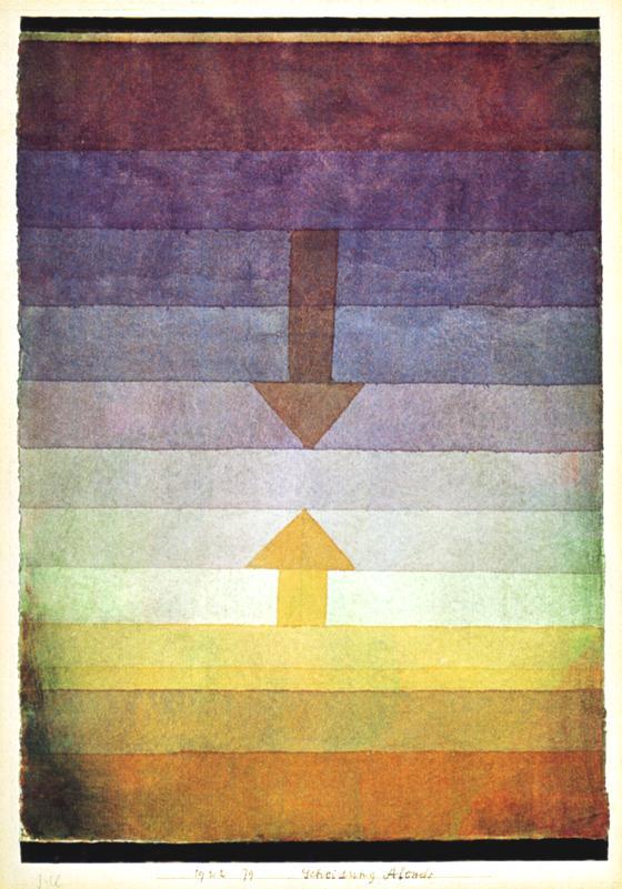 PAUL KLEE- Scheidung Abens (Separación por la tarde, 1922)