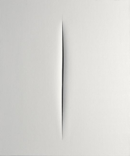 Lucio Fontana- Concetto spaziale. Attesa (Concepto espacial. Espera, 1960)