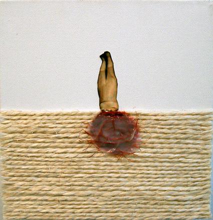 Begoña Arostegui - foto, óleo, papel sobre lienzo (2009)_