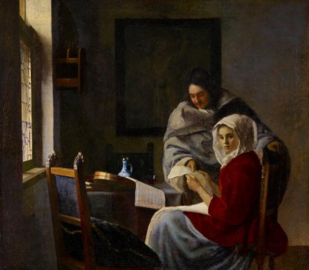 Vermeer- Girl Interrupted in her Music (1658-61)