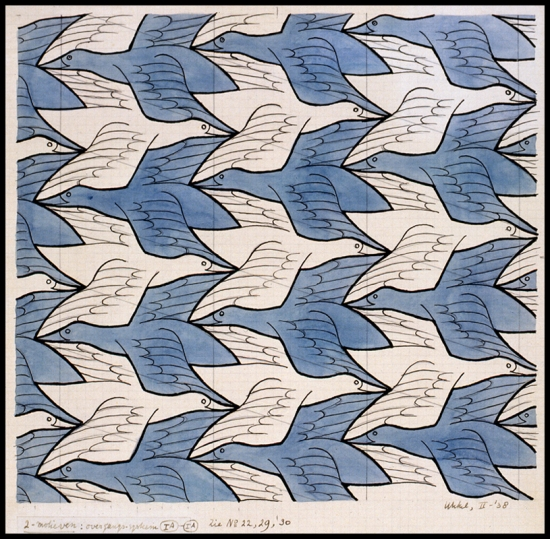 M.C. Escher- Two Birds (No. 18) 1938