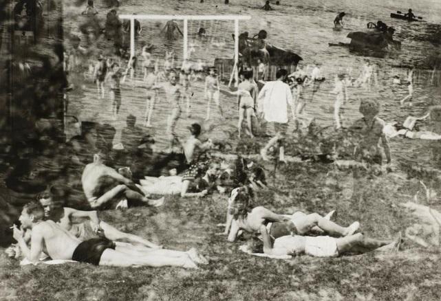 Raoul Hausmann- La plage, Limoges (Rêve de plage) 1947