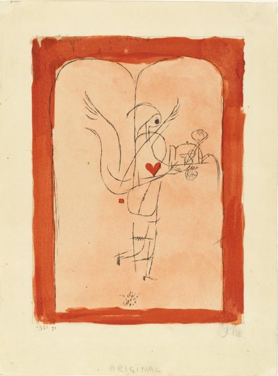 Paul Klee- A Guardian Angel Serves a Small Breakfast (Ein Genius serviert ein kleines Frühstück) from the yearbook Die Freude- Blätter einer neuen Gesinnung (Joy- Papers for a New Consciousness) 1920