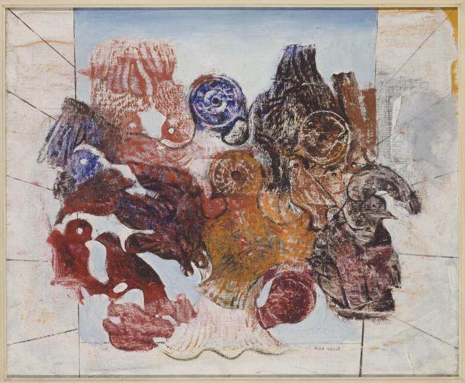 Max Ernst- Oiseaux rouges (Pájaros rojos) 1926