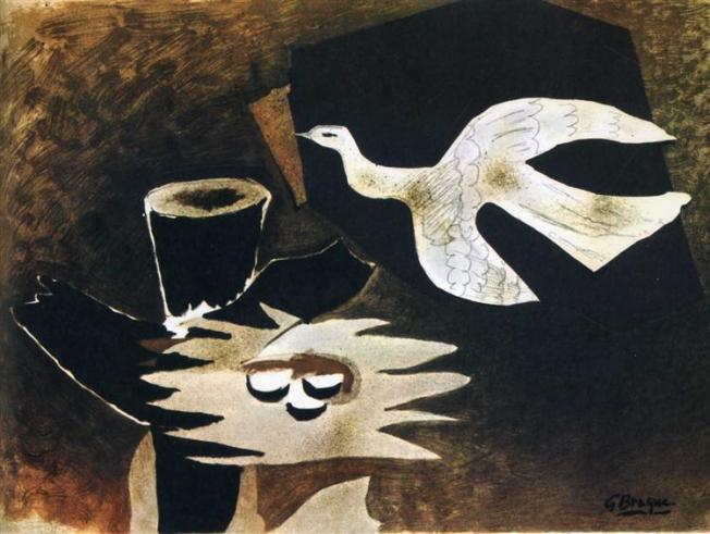 George Braque- L'oiseau et son nid (L'oiseau retournant à son nid) 1955
