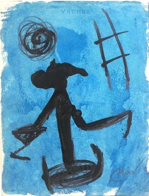 Joan Miró- Femme, Echelle de L'Evasion, 1977