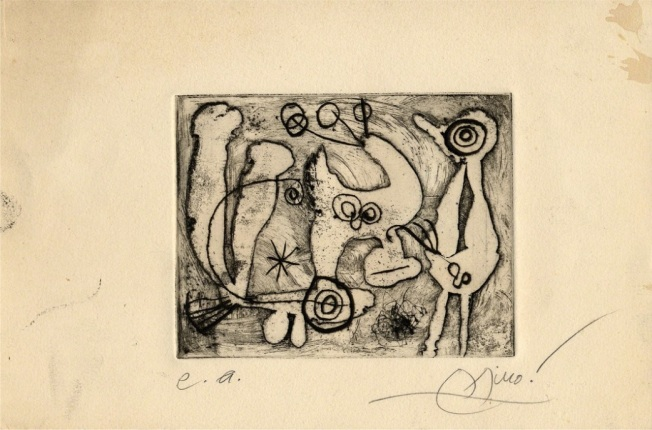 Joan Miró- Saccades, 1962