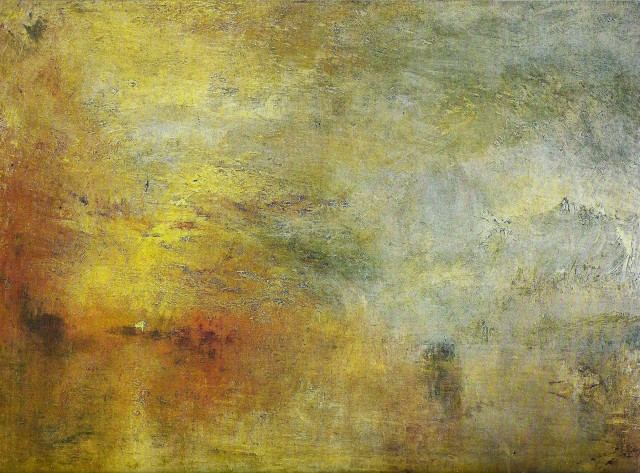 William Turner - Sun Setting over a Lake (1840)