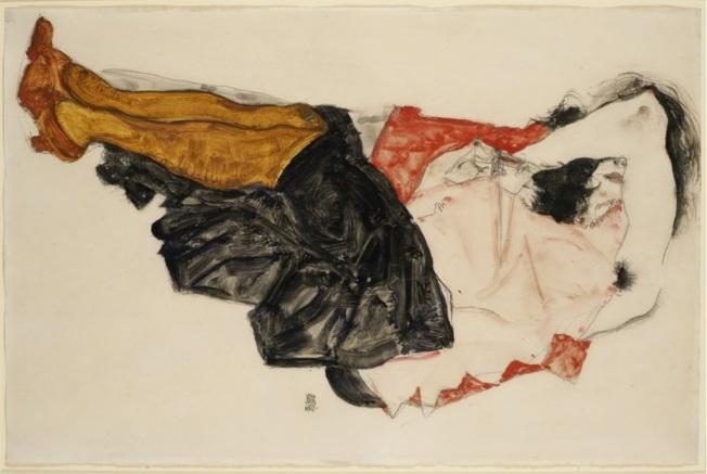 Egon Schiele - Woman Hiding her Face, 1912