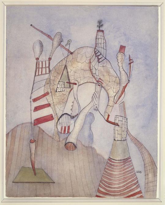 Wols- Les autres sous le pont (Los otros bajo el puente) 1938