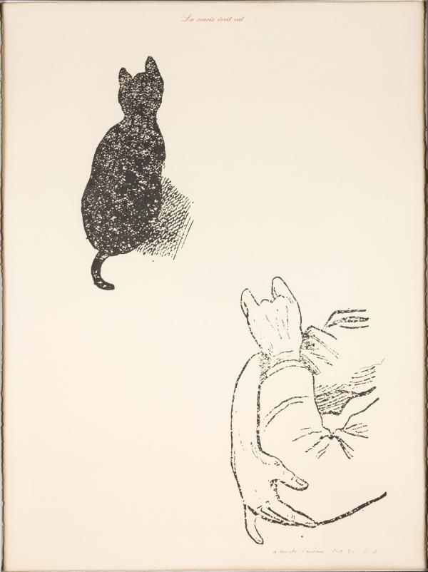 Marcel Broodthaers - La Souris écrit rat (A Compte d'auteur) 1974