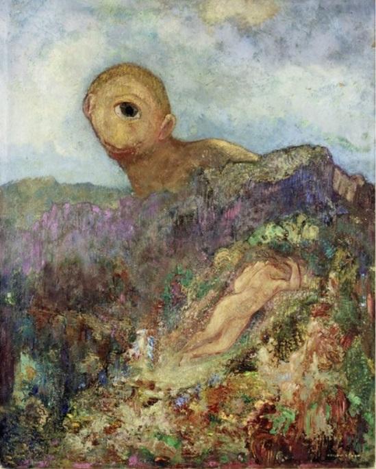 Odilon Redon - Le Cyclope (The Cyclops), ca 1914