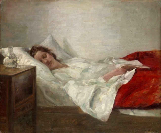 Carl Vilhelm Holsoe - Sleeping Woman (hacia 1900)