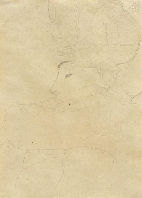 Egon Schiele - Portrat einer Dame (Portrait of a Woman), 1908