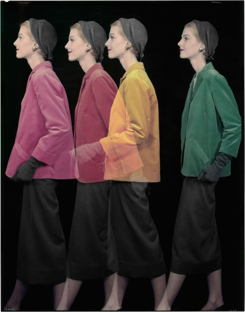 Erwin Blumenfeld - Spring fashion, for Vogue (1953)
