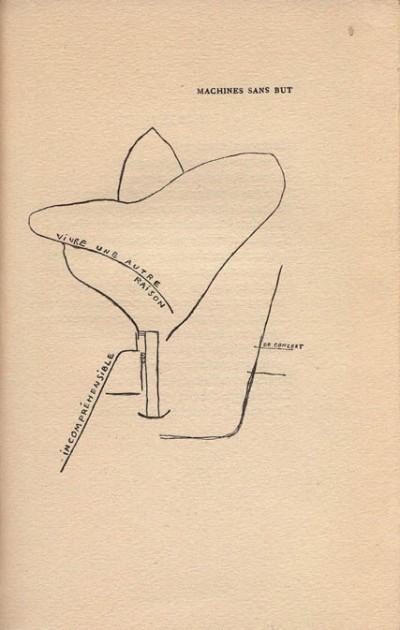 Francis Picabia - poema diagrama de la serie Poèmes et dessins de la fille née sans mère (1918)