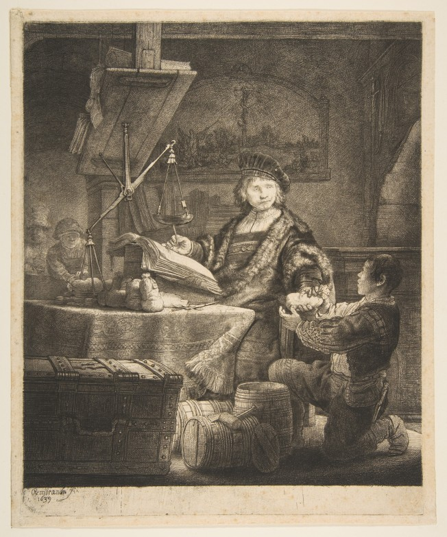 Rembrandt - Jan Uytenbogaert (The Goldweigher), 1639