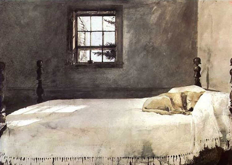 Andrew Wyeth - Master Bedroom (1965)