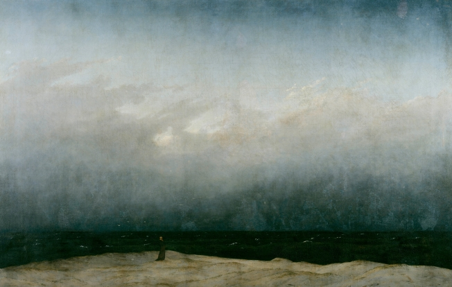 Caspar David Friedrich - The Monk by the Sea (1808-1810)