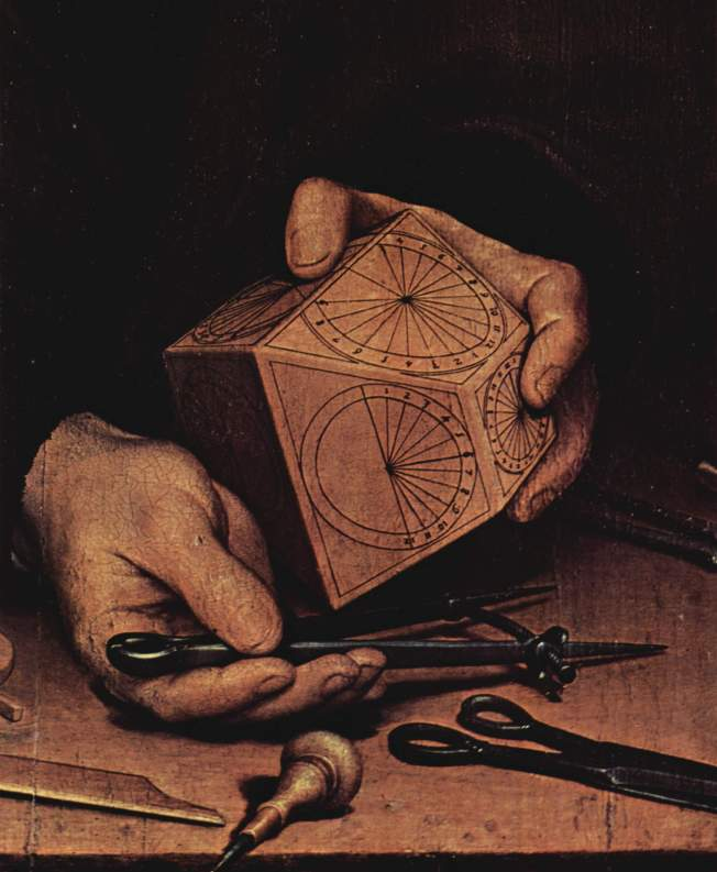 Hans Holbein the Younger - Detail, Portrait of Astronomer Nikolaus Kratzer (1528)