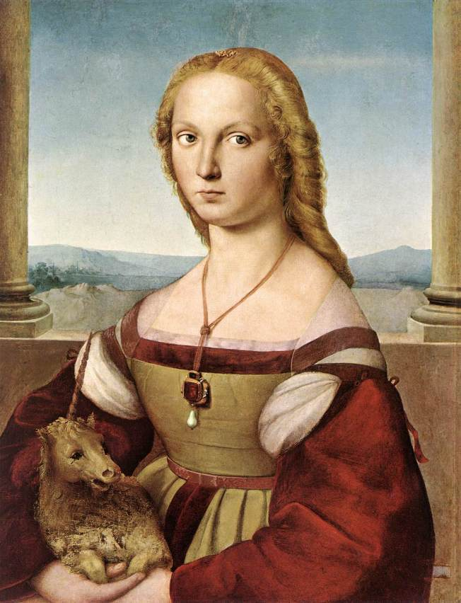 Raphael - Portrait of Young Woman with Unicorn (c. 1506)