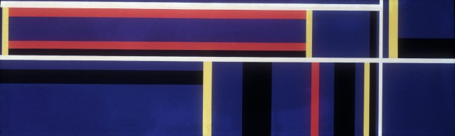 Large Blue Horizontal Ilya Bolotowsky (1975)